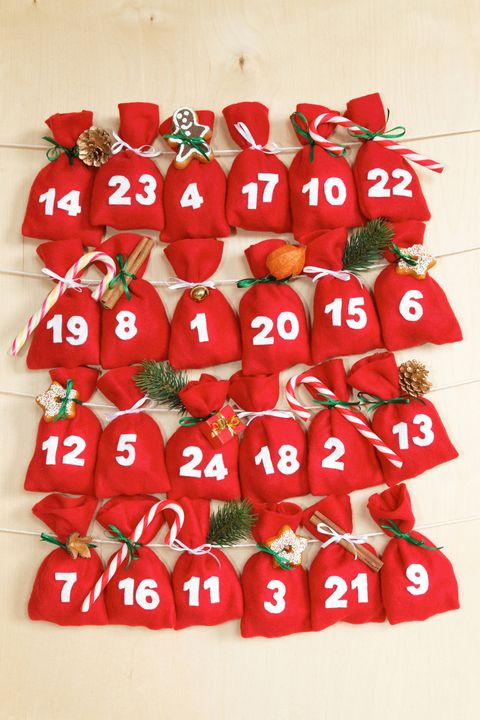 advent calendar with little bags