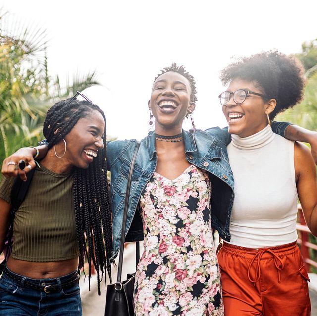 friends laughing, having fun, joy