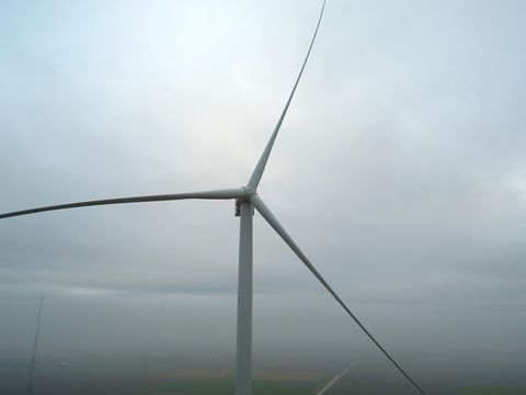 Wind turbine, Atmospheric phenomenon, Wind farm, Wind, Public utility, Sky, Windmill, Machine,