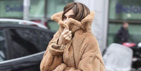 Fur, Street fashion, Clothing, Fur clothing, Outerwear, Snapshot, Fashion, Coat, Textile, Headgear,