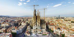 Aerial Photo of Sagrada Familia in Barcelona, Spain