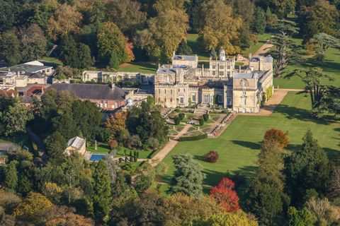 Aerial photograph of Wilton House, Wiltshire.