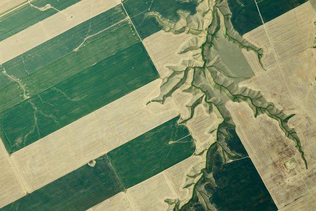 aerial photos farmland patterns