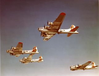 B-17 Bombers In Flight