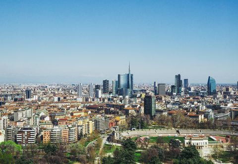 Aerial View Of Cityscape Against Sky During Sunny Day