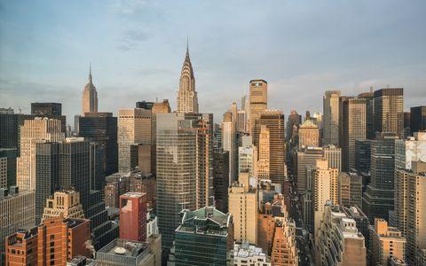 Aerial View of Midtown Manhattan - New York