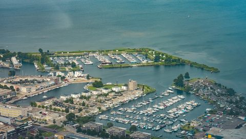 aerial view on zeewolde in flevoland, netherlands
