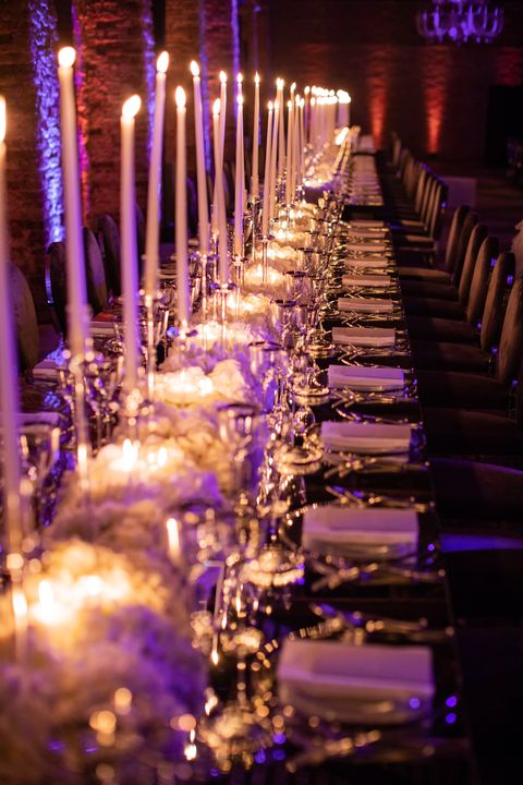 Lighting, Purple, Light, Violet, Night, Candle, Architecture, Event, Ceremony, Aisle,