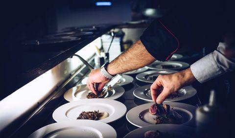 Food, Hand, Dish, Cuisine, Restaurant, Meal, Culinary art,