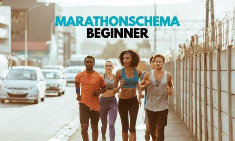 Marathonschema beginner