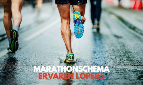Marathonschema voor ervaren lopers