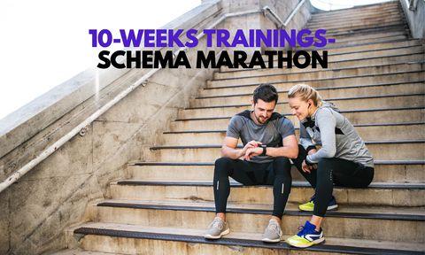10-weeks trainingsschema marathon,trainingsschema, marathon, 10 weken, liefdevoorlopen, liefde voor lopen, hardlopen, runnersworld, Runner's World, runnersweb, hardloopschema, schema, gratis, online, 10, weken