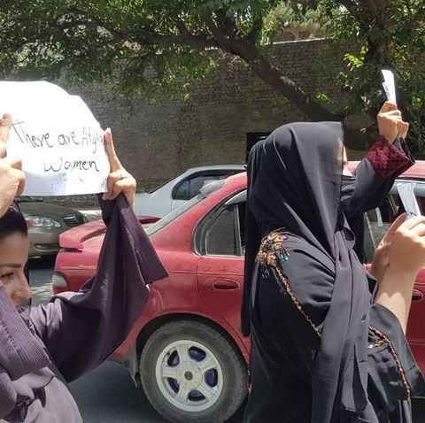 afghan women demand the protection of women's rights in kabul