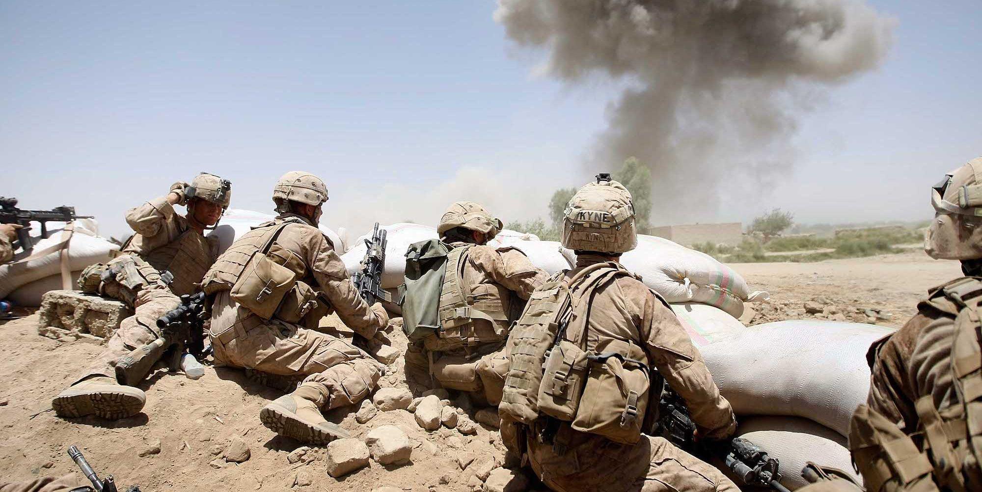 U.S. Marines Continue Suppression Of Insurgents