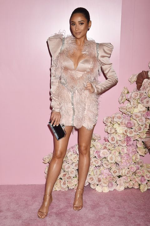 Fashion model, Clothing, Fashion, Shoulder, Pink, Dress, Beauty, Haute couture, Lip, Cocktail dress,