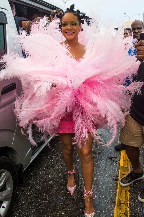 """Rihanna is spotted during """"Kadooment Day"""" parade late Monday in St. Michael Parish, Barbados."""