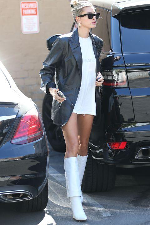 Clothing, Street fashion, Footwear, Leg, Fashion, Snapshot, Vehicle, Tights, Leather, Boot,