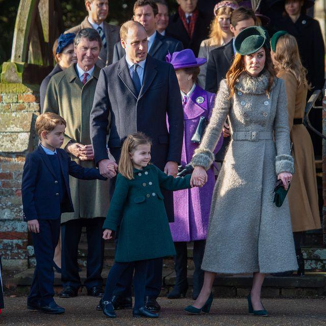 ロイヤルファミリー、クリスマス礼拝、2019、キャサリン妃、シャーロット王女、ジョージ王子、ウィリアム王子