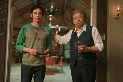 hunters, from left logan lerman, al pacino, season 1, episode 101, aired feb 21, 2020 photo christopher saunders  ©amazon  courtesy everett collection