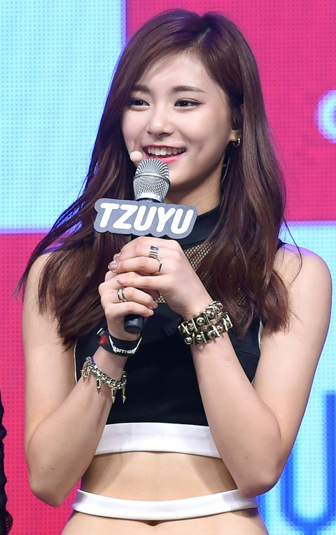 tzuyu of twice holds a debut showcase on october 20, 2015 in seoul, south korea 2015 10 20