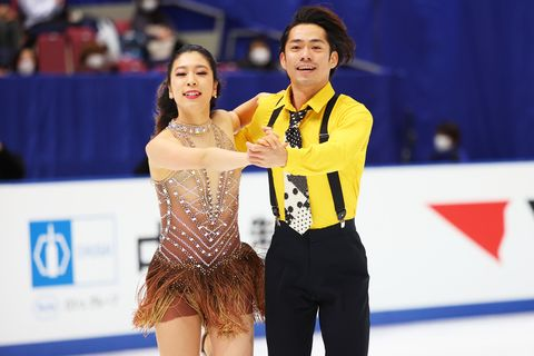 村元哉中kana muramoto  高橋大輔daisuke takahashi, december 26, 2020   figure skating  japan figure skating championships 2020 ice dance rhythm dance at big hat in nagano, japan photo by naoki moritaaflo sport