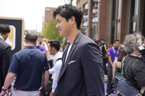 american leagues shohei ohtani, of the los angeles angeles, arrives at the all star red carpet event prior to the mlb all star baseball game, tuesday, july 13, 2021, in denver ap photodavid zalubowski
