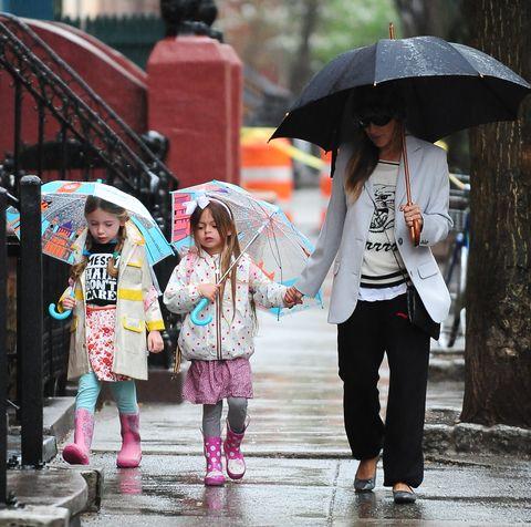 Umbrella, Rain, People, Pink, Snapshot, Fashion accessory, Street fashion, Pedestrian, Child, Human,