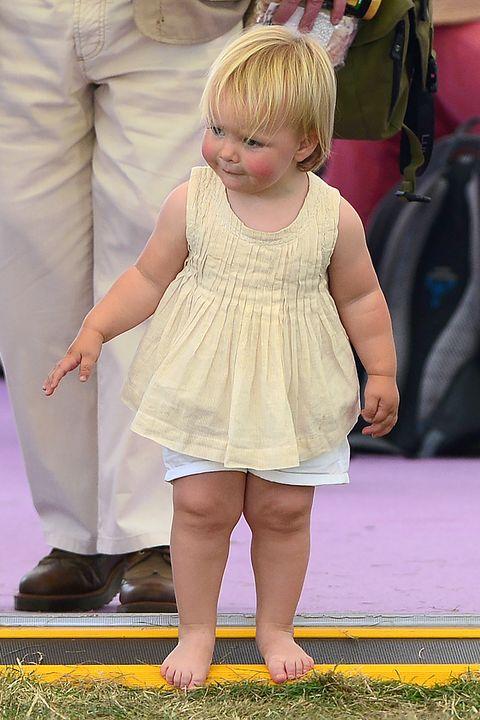 Child, Yellow, Toddler, Pink, Skin, Leg, Blond, Fun, Grass, Dress,