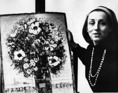 apr 9, 1973   mougins, france   painter francoise gilot, the one time companion of pablo picasso, and the mother of his two children, with a work of art credit image © keystone press agencykeystone usa via zumapresscom