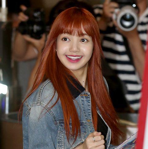 members of south korean girl group blackpink arrive at the airport in seoul, south korean, 17 july 2017