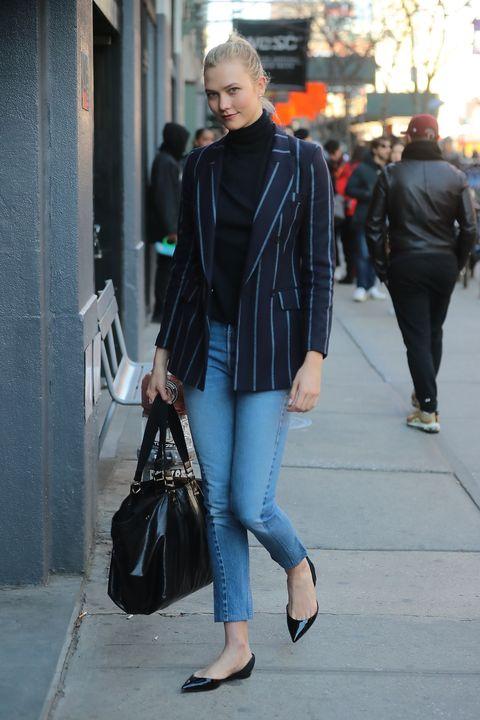 Clothing, Street fashion, Leather, Fashion, Jeans, Snapshot, Leather jacket, Jacket, Outerwear, Footwear,