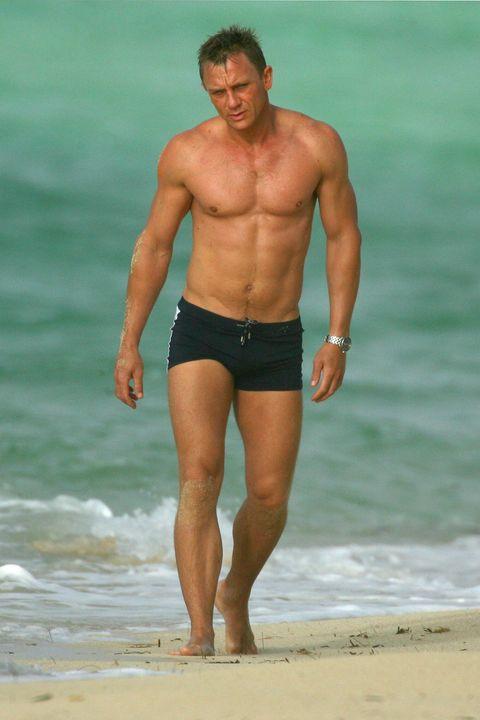 Barechested, Muscle, Undergarment, Clothing, Chest, Swim brief, Briefs, Beach, Swimwear, Trunks,