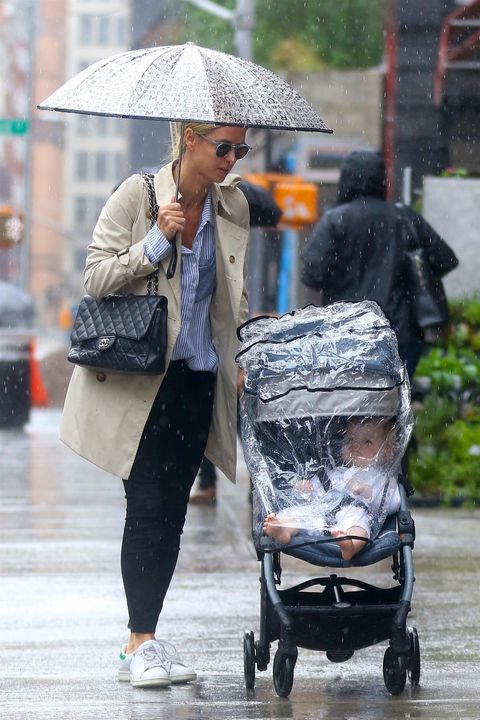 Product, Rain, Baby carriage, Fashion accessory, Outerwear, Umbrella, Walking, Street fashion, Street, Baby Products,
