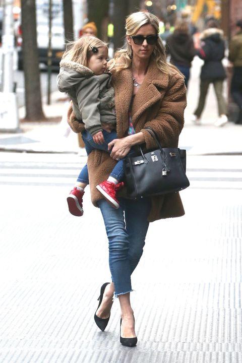 Street fashion, Photograph, Clothing, Fashion, Snapshot, Footwear, Fur, Street, Tights, Blond,