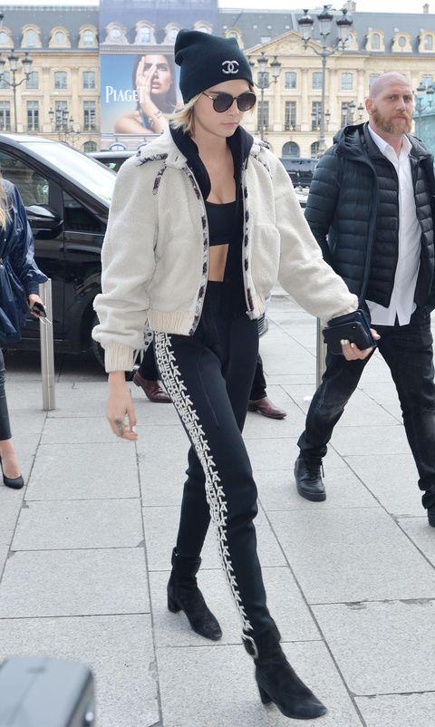 Cara Delevingne and Girlfriend Ashley Benson Visit Chanel Store at PFW
