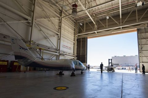 X-57 Mod II Vehicle Delivered to NASA Armstrong