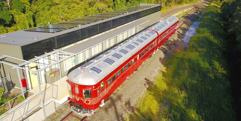 World S First Solar Train Running In Australia