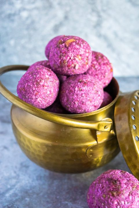 Food, Cuisine, Dish, Dessert, Sorbet, Recipe, Magenta, Ingredient, Produce, Bourbon ball,