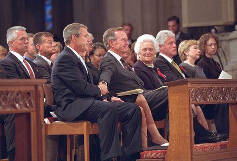 Bush At National Cathedral