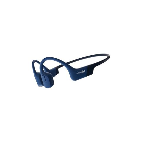 aftershokz aeropex bone conduction oordopjes bluetooth blauw draadloos