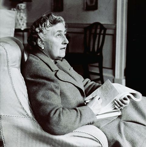 Agatha Christie Seated