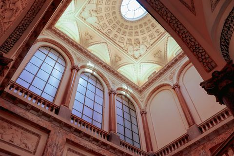 Architecture, Holy places, Ceiling, Arch, Building, Daylighting, Classical architecture, Symmetry, Interior design, Column,