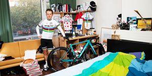 Wereldkampioen wielrennen met pizza als doping