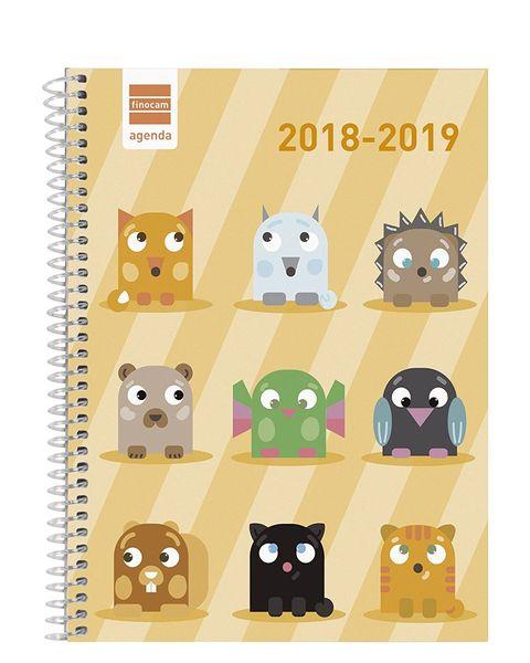 Agenda escolarcon dibujos de animales