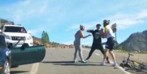 agresion a un ciclista