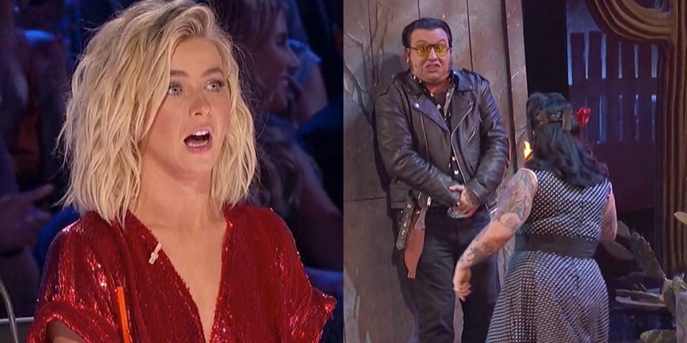 'AGT' Judge Julianne Hough's Face After Nick and Lindsay's Performance Last Night Is Everything