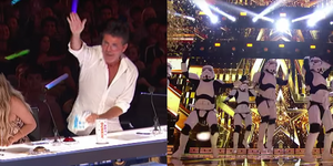 NBC 'America's Got Talent: The Champions' Simon Cowell Steals Golden Buzzer