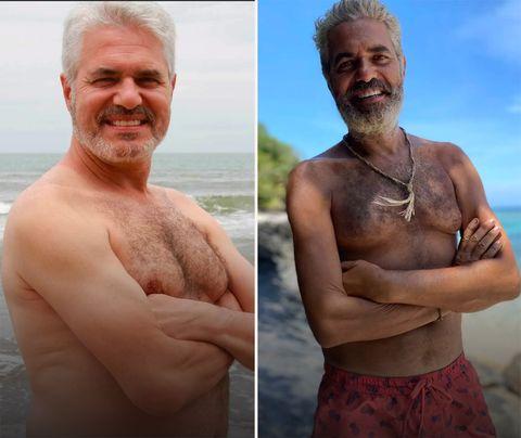 el presentador posa en bañador para mostrar su cambio físico