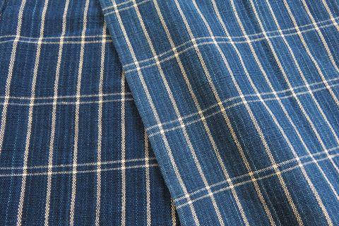安達さんがお召しの藍木綿のアップ