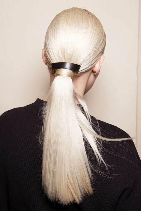 Hair, Hairstyle, Blond, Beauty, Long hair, Hair coloring, Hair tie, Ponytail, Comb over,